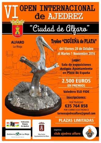 Cartel_VI_open_ajedrez Ciudad de Alfaro